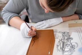 Un dessin personnalisé pour un sac sur mesure. ((Photo: Eric Chenal))