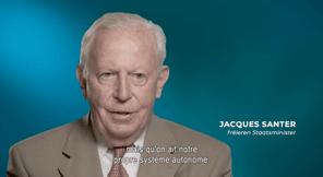L'ancien ministre d'Etat, Jacques Santer, parmi les témoins de l'histoire de la surveillance financière. (Photo: capture d'écran)
