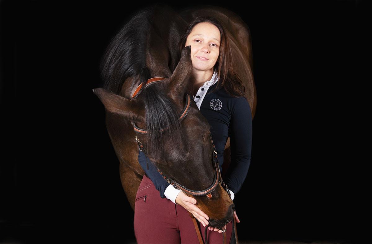 La cofondatrice d'Hocapa, MaudColin-Noesser, vise les marchés français, belge et luxembourgeois pour commercialiser son carnet de santé numérique dédié au cheval. (Photo: Hocapa)