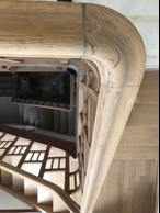 The central staircase, a centrepiece of the 1920s townhouse, seen prior to restoration work. Photo provided by Aatika Hayat