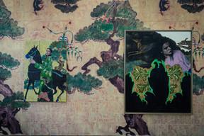 Oeuvre d'IrisVan Dongen présentée dans «L'homme gris». ((Photo: Mike Zenari))
