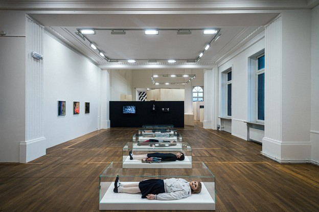 Vue de l'exposition «L'homme gris», au Casino Luxembourg. (Photo: Mike Zenari)