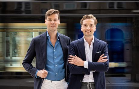 Laurens Krekels et Bram ter Harmsel veulent compléter l'offre en costumes au Luxembourg. (Photo: Les Hommes d'Amsterdam)