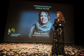 Set and costume designer Anouk Schiltz won the Hannert der Bün (backstage) prize (Photo: Nader Ghavami/Maison Moderne)