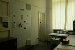 Vue de l'intérieur de l'Hôtel des Postes à Aldringen en juillet 2020. ((Photo: Matic Zorman))