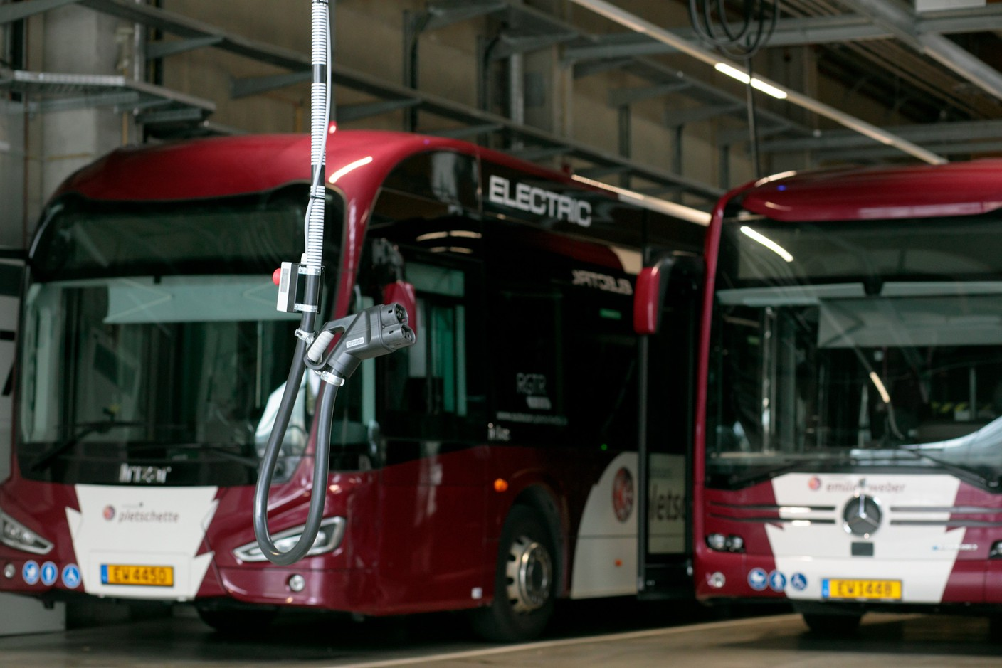 The challenge, after dark, is to charge and maintain all the electric buses. (Photo: Matic Zorman/Maison Moderne)