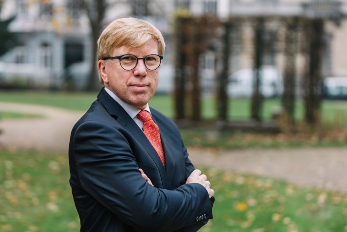 Hugo Lasat has 30 years of experience in the financial sector and was previously in charge ofDegroof Petercam's asset management entity DPAM. (Photo: Degroof Petercam)