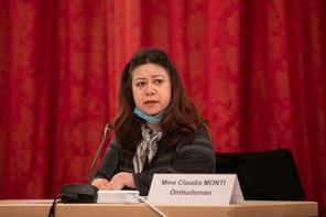 Véritable lien entre les doléances des citoyens et l'administration, l'ombudsman ClaudiaMonti a présenté ce lundi 19 avril son rapport d'activités pour l'année2019 aux députés. (Photo: Matic Zorman/Maison Moderne)