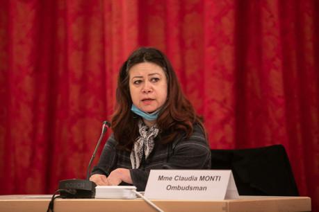 Véritable lien entre les doléances des citoyens et l'Administration, l'ombudsman ClaudiaMonti a présenté ce lundi 19 avril son rapport d'activité pour l'année2019 aux députés. (Photo: Matic Zorman/Maison Moderne)