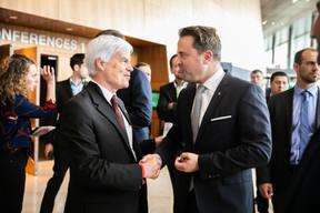 À droite, Xavier Bettel (Premier ministre) ((Photo: Edouard Olszewski))