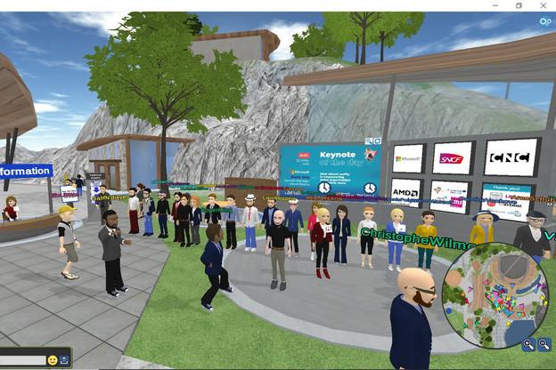 L'accueil, jeudi, de l'événement Laval Virtual, auquel 10.000 personnes ont participé. (Screenshot: Laval Virtual)