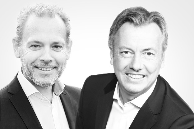 Bernard Deghaye, sales manager, et Marc Roland, operations manager chez Computerland Luxembourg. (Photo: Maison Moderne)