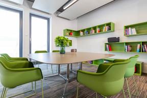 Les employés disposent d'une bibliothèque pour leurs recherches. ((Photo: Belvedere Architecture))