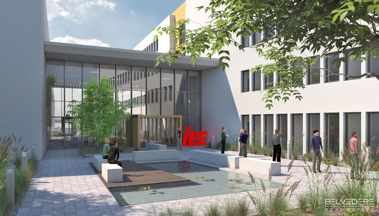 Goodyear arrivera dans deux ans. Mais IEE a commencé à prendre possession de l'Automotive Campus à Bissen. (Photo: Ministère de l'Économie)