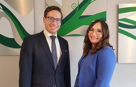 Ryan Davis, Associate Partner and Oksana Sisterhenn, Manager at Avantage Reply Luxembourg Photo : Avantage Reply Luxembourg