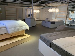The mattress testing area has been redesigned, with subdued lighting and improved acoustics. (Photo: Paperjam)