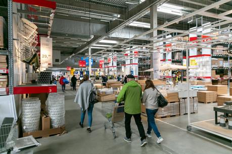 Si les visiteurs ont été moins nombreux en magasin, restrictions sanitaires obligent, l'enseigne Ikea a réussi à gonfler ses ventes en ligne, aussi bien en Belgique que dans la trentaine de pays où l'enseigne suédoise est active. (Photo: Romain Gamba/Maison Moderne)