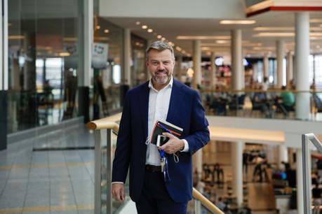 Thierry Debourse est depuis juillet le nouveau directeur du centre commercial Belval Plaza (Photo: Romain Gamba / Maison Moderne)
