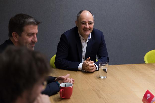 Patrick Goldschmidt a échangé durant plus d'une heure avec les journalistes de Paperjam. (Photo: Romain Gamba)