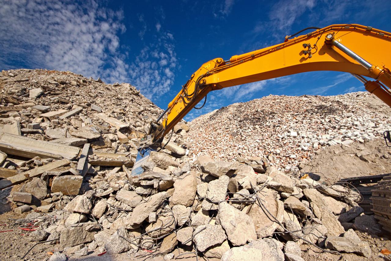 Les entreprises de la construction cherchent à évacuer 8 à 10 millions de tonnes de déchets inertes par an. Et paient pour l'instant de 7 euros à 7,50 euros la tonne. (Photo: Shutterstock)