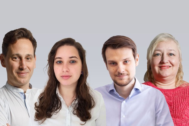 Andrés Sanz Buezo,Luciana Scalfaro,Arthur Clément etIsabelle Mosar ont des parcours bien différents mais un point commun, ils ont chacun décidé de recourir à l'upskilling. (Montage: Maison Moderne)