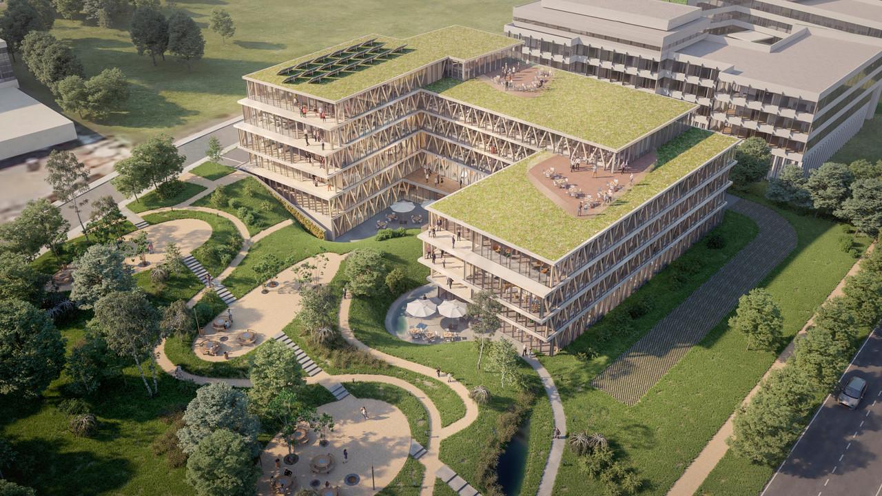 Co-développé par IKO Real Estate et BPI Real Estate pour Bâloise Assurances Luxembourg, l'immeuble de bureaux Wooden intègre pleinement la notion de biophilie. IKO Real Estate