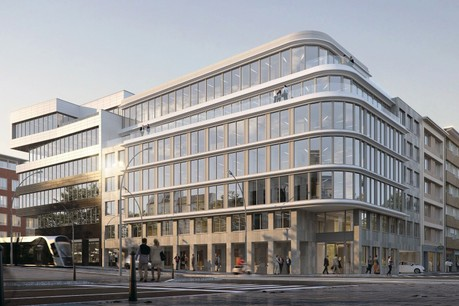 La nouvelle façade a été conçue afin d'offrir une vue exceptionnelle aux utilisateurs. (Photo: Immobel)