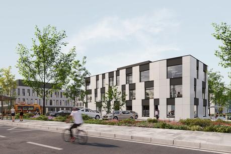 L'ensemble immobilier Origin remplace l'ancien siège de Swiss Life. (Illustration: Boito Architectes)