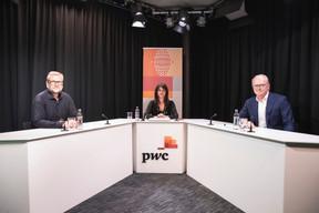 François Genaux (PwC Luxembourg), Julie Lhardit (Maison Moderne) and Marcel Leyers (BIL) (Photo: Simon Verjus/Maison Moderne)