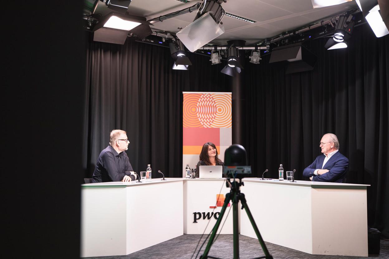 François Génaux (PwC Luxembourg), Julie Lhardit (Maison Moderne) and Marcel Leyers (BIL) VERJUS SIMON, Maison Moderne Publishing SA