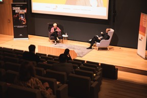 Sasha Baillie (Luxinnovation) et François Genaux (PwC Luxembourg) ((Photo: Christophe Debailleul/Maison Moderne))