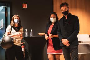 Géraldine Gij, Ana Wiscour-Conter et Pierre-Yves Lanneau Saint Leger (Maison Moderne) ((Photo: Christophe Debailleul/Maison Moderne))