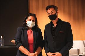 Ana Wiscour-Conter et Pierre-Yves Lanneau Saint Leger (Maison Moderne) ((Photo: Christophe Debailleul/Maison Moderne))