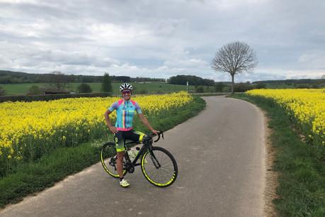 Ina de Visser est photographiée sur son parcours cycliste préféré au Luxembourg. (Photo:Ina de Visser)