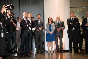 Benjamin Collette (Deloitte), Serge Wilmes (Ville de Luxembourg), Xavier Bettel (Premier ministre), Corinne Cahen (Ministre de la Famille et de l'Intégration) ((Photo: Blitz Agency 2019))