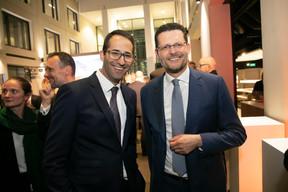 A gauche, David Osville (Deloitte), à droite,Adel Nabhan (Degroof Petercam) ((Photo: Blitz Agency 2019))