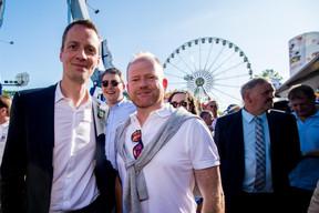 Serge Wilmes (Ville de Luxembourg), Sven Clement (Député) et Claude Lamberty (DP) ((Photo: Nader Ghavami))