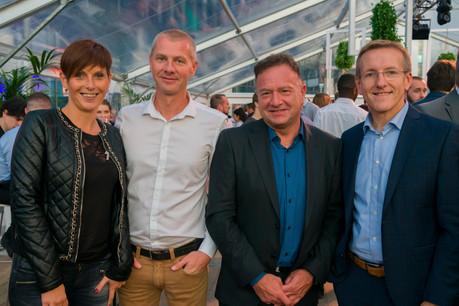 Sylvianne Michel, Gaëtan Demande (ALD Automotive), Jourdan Serderidis (ARHS Group) et Dominique Roger (ALD Automotive) (Photo: ARHS Group)
