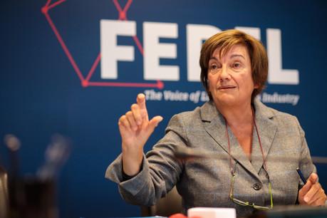 «La politique industrielle doit être portée par le gouvernement dans son ensemble», plaide la présidente de la Fedil, MichèleDetaille. (Photo: Matic Zorman / Maison Moderne)