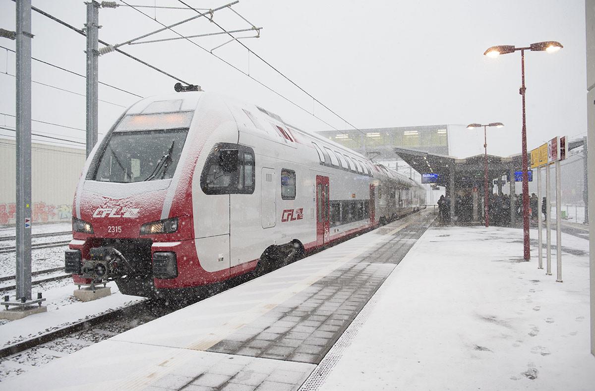 Les CFL disposent actuellement de 149 trains, et 34 nouveaux trains seront livrés d'ici 2024, ce qui compensera l'arrêt de l'utilisation de 22 vieilles automotrices. (Photo: Anthony Dehez / archives / Maison Moderne)
