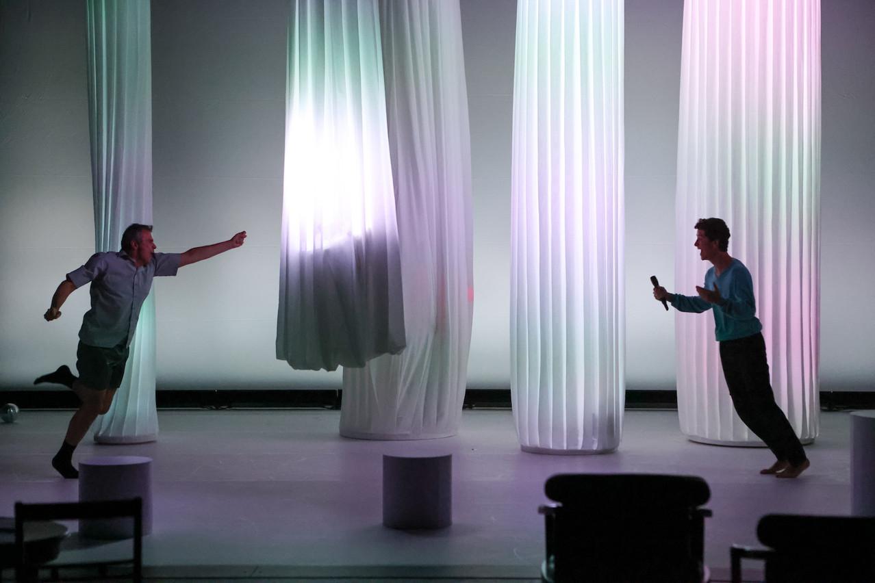 La pièce «Intérieur Nuit – Extérieur Kate» fait partie des œuvres commandées par les Théâtres de la Ville de Luxembourg et le Kinneksbond Centre culturel Mamer. (Photo: Bohumil Kostohryz)