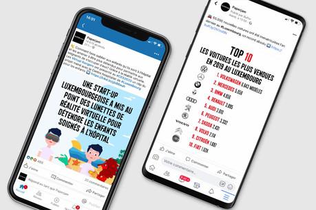 Une start-up en vue au CES 2020 et les nouvelles immatriculations de véhicules en 2019 au Luxembourg, les deux sujets viraux de la semaine sur les réseaux sociaux de Paperjam. (Illustration: Maison Moderne)