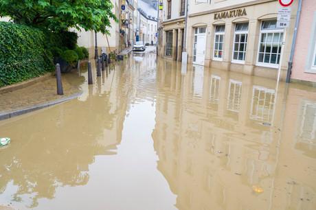 Les 14 et 15 juillet 2021, le Luxembourg a connu des précipitations spectaculaires, avec des niveaux considérables allant de 60 à 80L/m2, et parfois jusqu'à 100L. (Photo: SIP/Jean-Christophe Verhaegen)