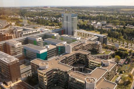 Le Luxembourg tient à la présence des institutions européennes – ici, le Parlement européen et la Cour des comptes – sur son sol mais doit affronter des vents contraires. (Photo : Matic Zorman / archives Maison Moderne)