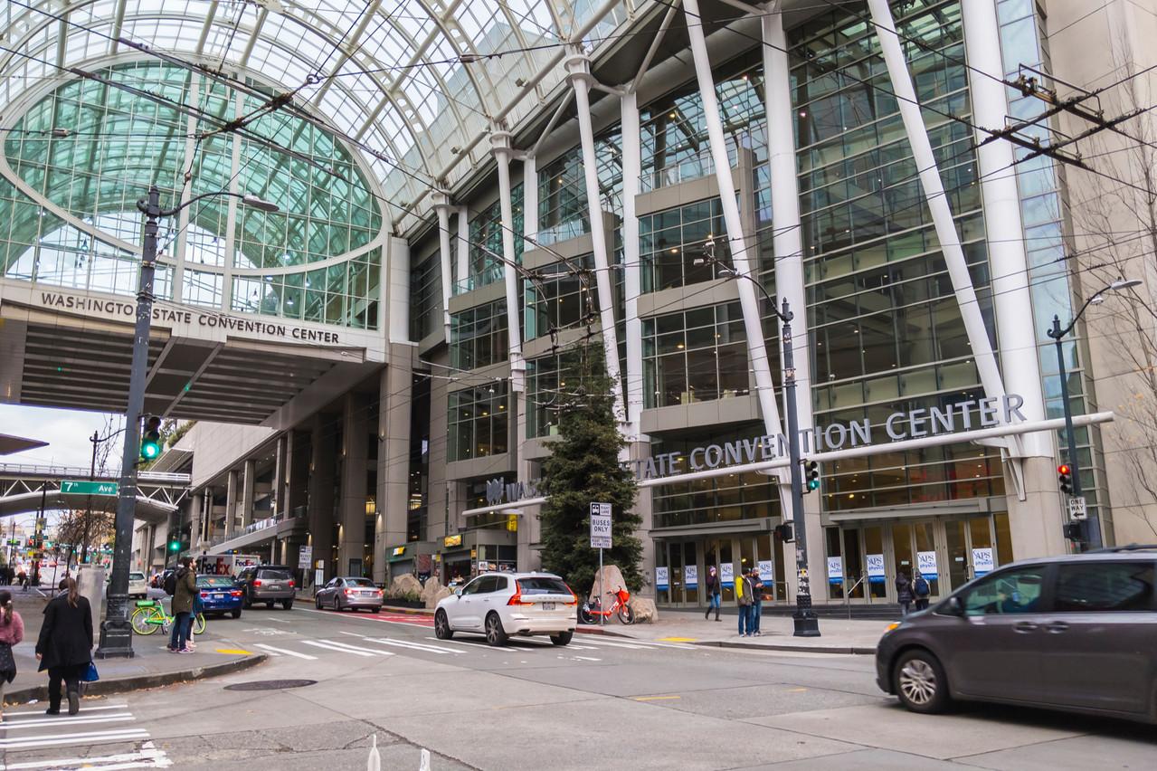 LeWashington State Convention Center(WSCC) est unpalais des congrèssitué àSeattle, dans l'État deWashington, auxÉtats-Unis. (Photo: Shutterstock)