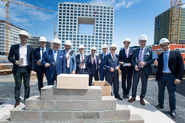 La première pierre du futur siège d'Intesa Sanpaolo a été posée vendredi 12 juillet. (Photo: Nader Ghavami)