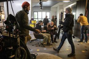 Un moment de complicité entre le réalisateur et son acteur. ((Photo: Jan Hanrion / Maison Moderne))