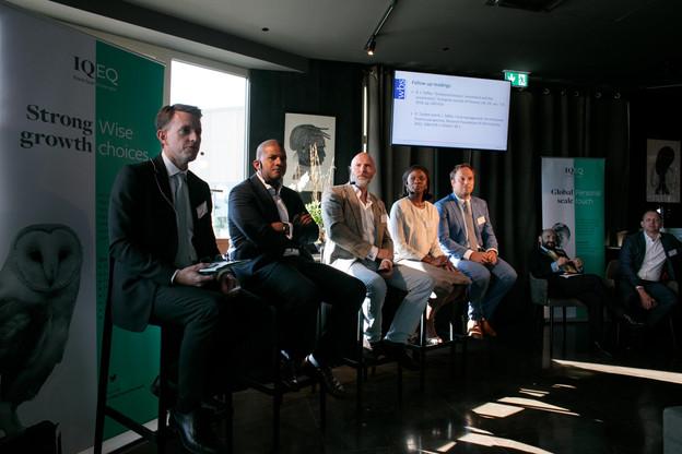 Justin Partington (IQ-EQ), Fèmy Mouftaou (IQ-EQ), Nicholas Curwen (EQT Partners), Aïssata Coulibaly (EY) et Matthias Kerbusch (Clifford Chance) (Photo: Matic Zorman)