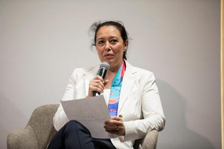 Isabel Wiseler-Lima durant la table ronde dédiée aux élections européennes, organisée le 15 mai dernier. (Photo: Jan Hanrion/Maison Moderne)