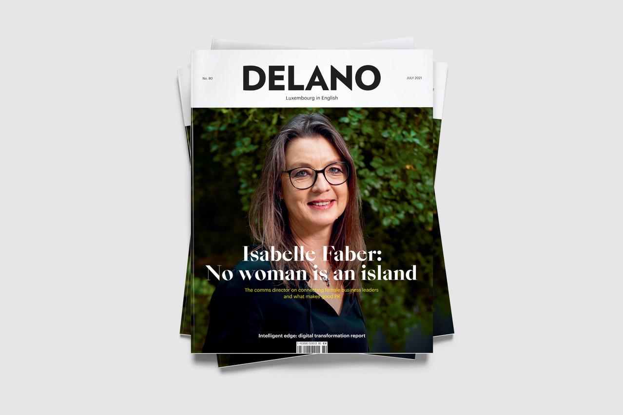Isabelle Faber est en une du Delano de juillet. (Photo: Maison Moderne)